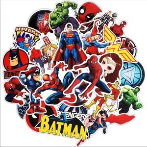 New 50Pcs Superhero Random Waterproof Stickers